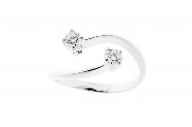 925k Silver Ring with Cubic Zirconia 0.40ct