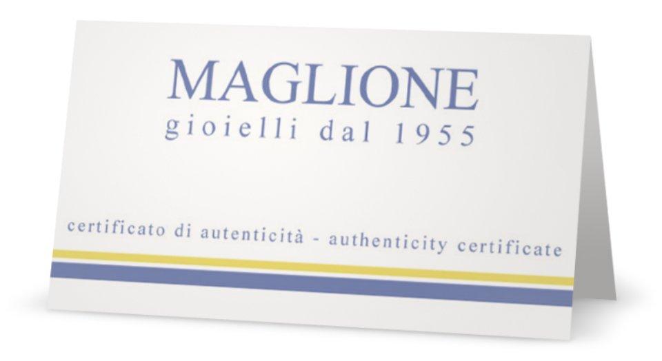 Anello Bilogy in argento 925% rodiato bianco con Zircone da 0.36ct
