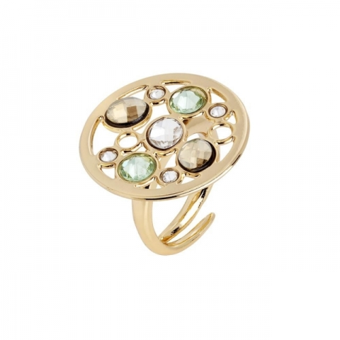 BOCCADAMO - Bronze ring with cubic zirconia