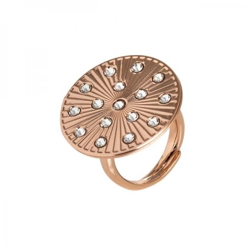 BOCCADAMO - Bronze ring with cubic zirconia