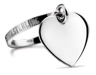 Nouvelles Arrivées 100% de qualité supérieure professionnel de la vente à chaud Anello con ciondolo cuore pendente in argento 925 firmato Maria Cristina  Sterling