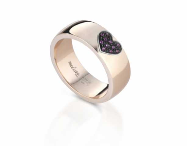 Melissa Jewels - Ring in 925k Silver and 18k Gold and Natural Ruby