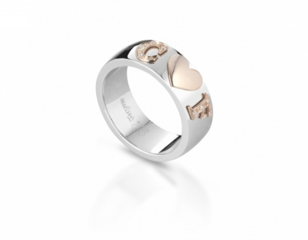 Melissa Jewels - Ring in 925k Silver and 18k Gold and Natural Diamonds