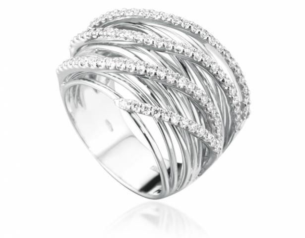 qualità affidabile vendita a buon mercato nel Regno Unito chic classico Anello Fascia Roger Gems con Diamanti Naturali IF 0.60ct in oro bianco 18kt
