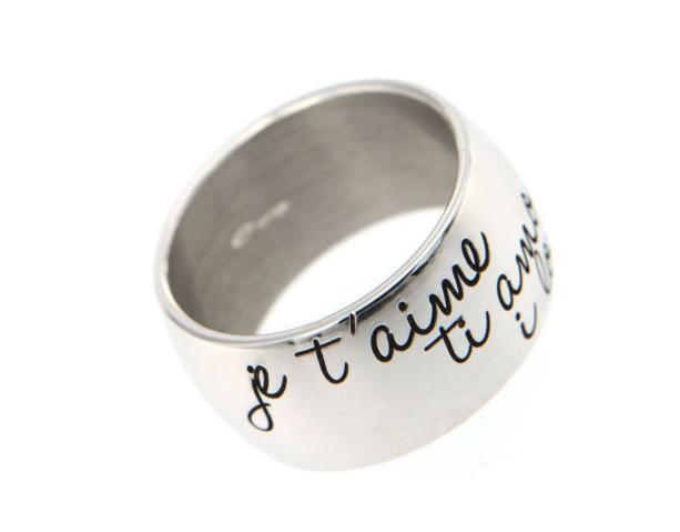 Anello My Charm in argento personalizzabile con nome o frase a scelta