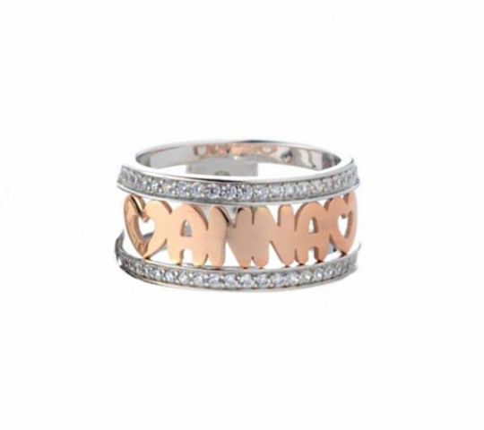 925% Silver Ring customizable with letters