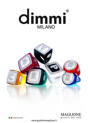 Anello quadrato piccolo Dimmi Milano collezione Coloured Name in resina colorata personalizzabile con iniziale del nome in zirconi
