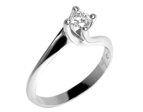 il prezzo rimane stabile scarpe a buon mercato prodotti caldi Anello solitario con Diamante F, IF 0.25ct in oro bianco 18kt mod. Valentino