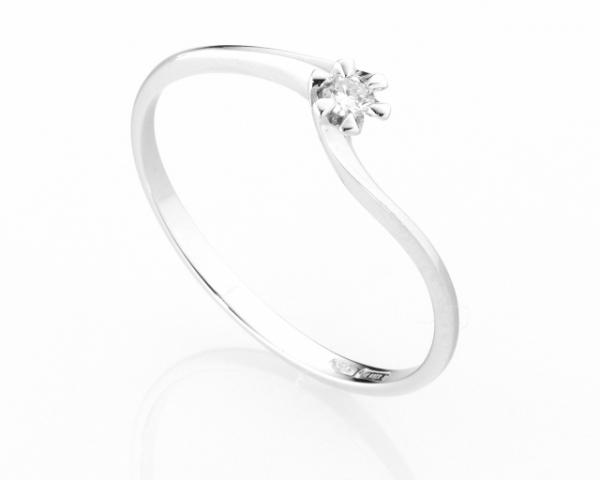 Anello Solitario Diamonds Luxury con Diamante da 0.06ct in oro bianco 18kt