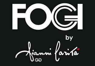 Anello solitario firmato FOGI by Gianni Carità in oro bianco e diamante da 0.07ct