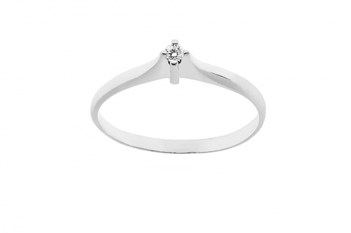 925k Silver Ring with Cubic Zirconia 0.03ct