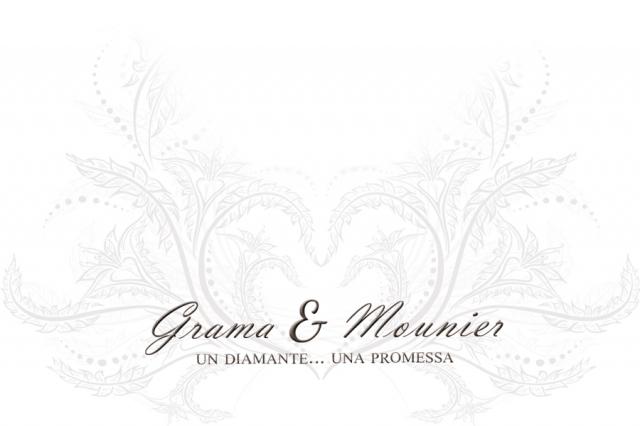 Anello Solitario Grama & Mounier con Diamante da 0.03ct in oro bianco 18kt GM002