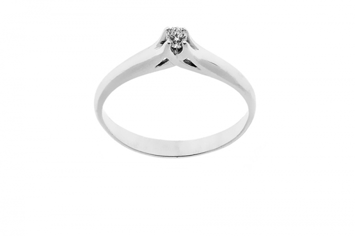 925k Silver Ring with Cubic Zirconia 0.06ct
