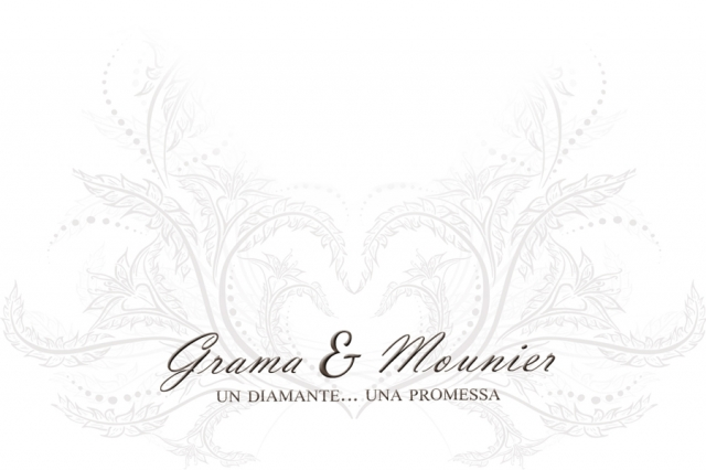 Anello Solitario Grama & Mounier con Diamante da 0.14ct in oro bianco 18kt GM037