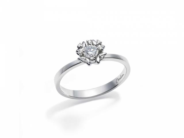 Anello Solitario Miluna collezione MISS ITALIA con 9 Diamanti LID3024