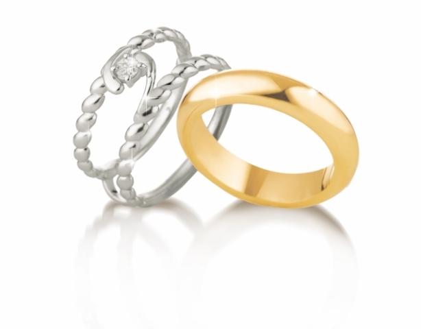 Anello Solitario VERA modello Chicco di Riso in oro bianco 18kt e Diamante 0.08ct