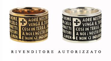 Anello Tuum Origine in Argento 925 Brunito con Padre Nostro in italiano