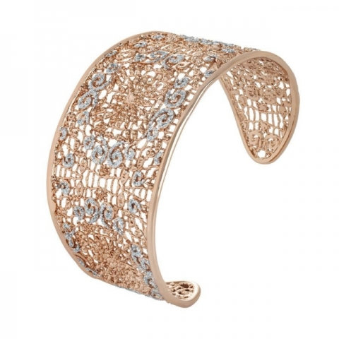Bracciale BOCCADAMO Alissa rigido con decoro in glitter XBR261RS