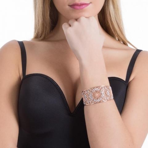 Bracciale BOCCADAMO Alissa rigido con decoro in glitter XBR261RS