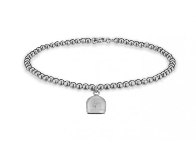 Bracciale con ciondolo Capri la Campanella della Fortuna in argento 925%