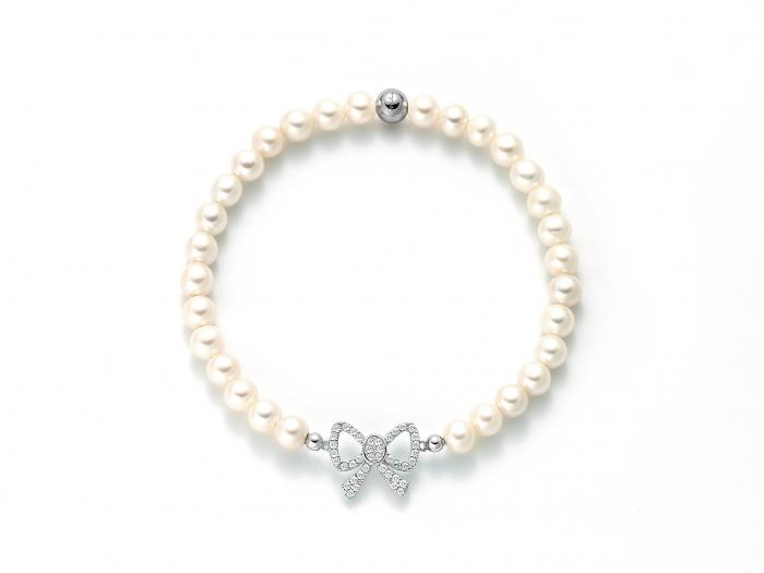 Bracciale di Perle Miluna collezione BRIO in argento e zirconi PBR2545-TPZ