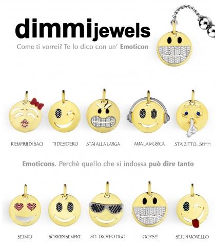 Bracciale Dimmi Jewels Emoticons smile Love in acciao e zirconi