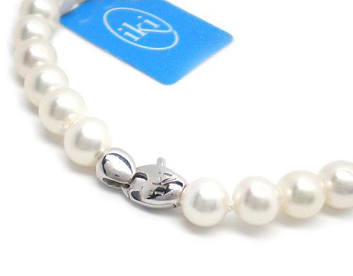 Bracciale IKI in oro bianco 18kt con Perle Coltivate Asia 6.50 mm