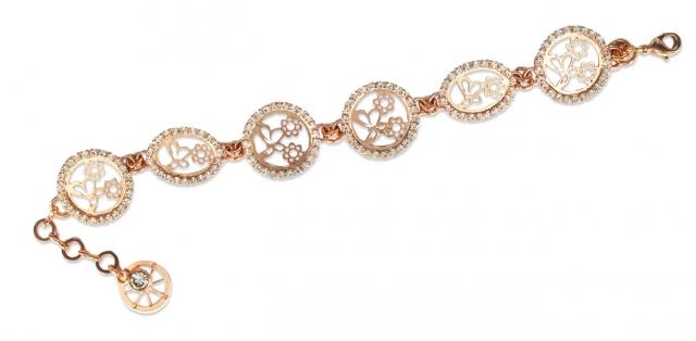selezione premium 5b990 144f7 Bracciale KeMira in ottone rosa e cristalli