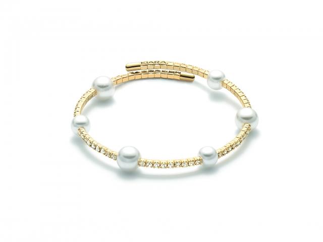 Bracciale KIARA con Perle e zirconi collezione Basik Pearl