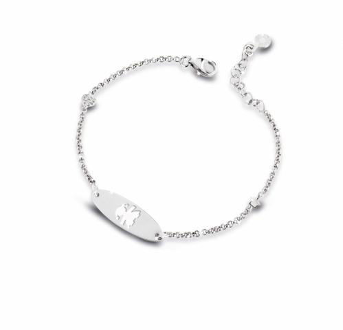 Bracciale Le Bebè - Primegioie - bimba in oro bianco e smalto con diamanti