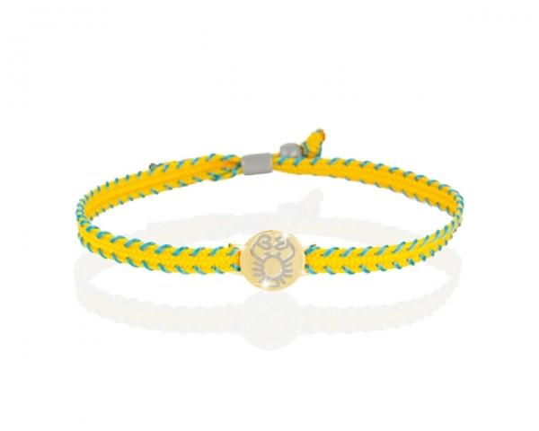 Bracciale Le Bebè - Primegioie - zodiaco Cancro in oro giallo e smalto