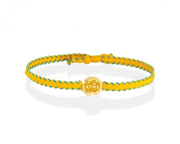Bracciale Le Bebè - Primegioie - zodiaco Leone in oro giallo e smalto