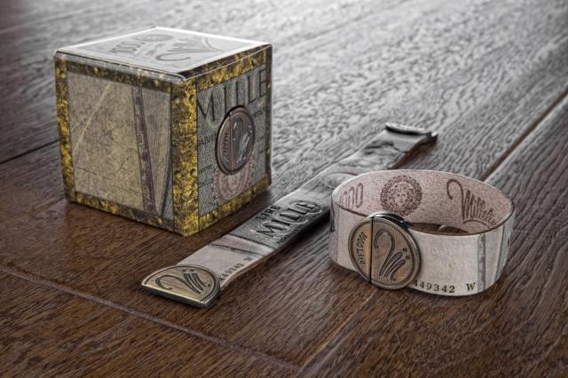 Bracciale Millelire Giuseppe Verdi in pelle e chiusura metallo magnetica taglia S