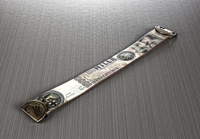 Bracciale Millelire Marco Polo in pelle e chiusura metallo magnetica taglia S