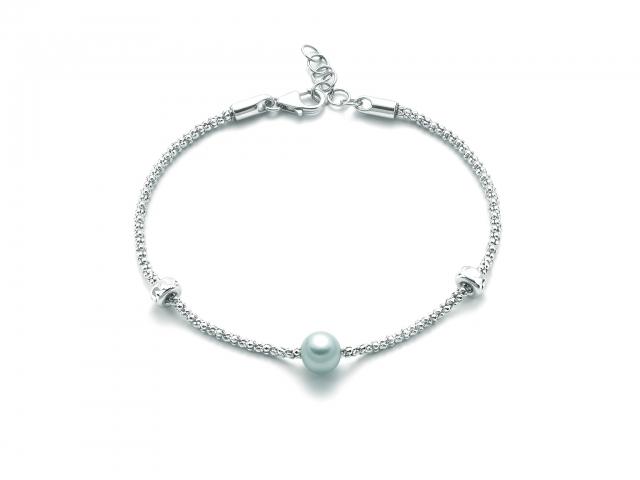 Bracciale MILUNA con Perla in argento 925% MISS ITALIA PBR3024