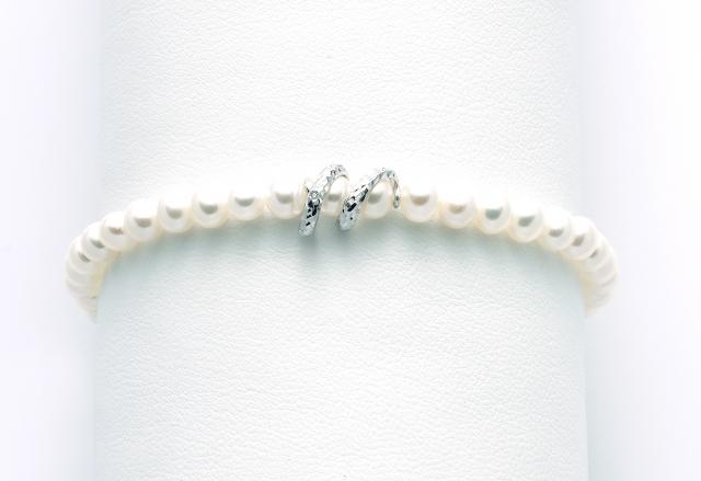 Bracciale Miluna con Perle e Diamante in oro bianco 18kt PBR2779