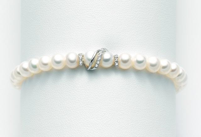 Bracciale Miluna con Perle e Diamanti in oro bianco 18kt PBR1527