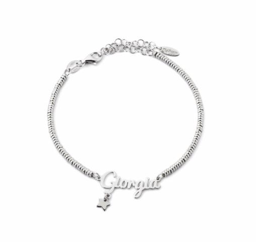 Bracciale My Charm in argento 925% bianco, giallo o rosa personalizzabile con nome