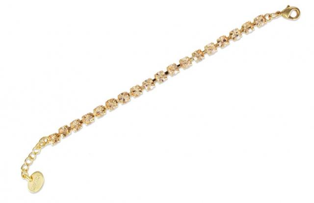 taglia 40 a8baf 2a796 Bracciale Tennis KeMira in ottone dorato e cristalli