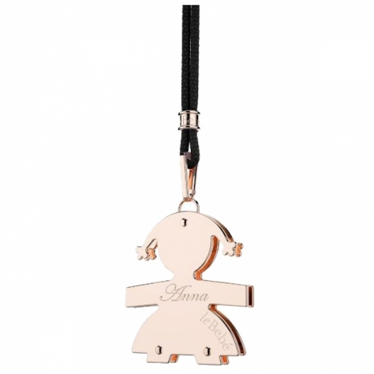 Le Bebè - 18K Rose Gold Big Girl Pendant customizable with name