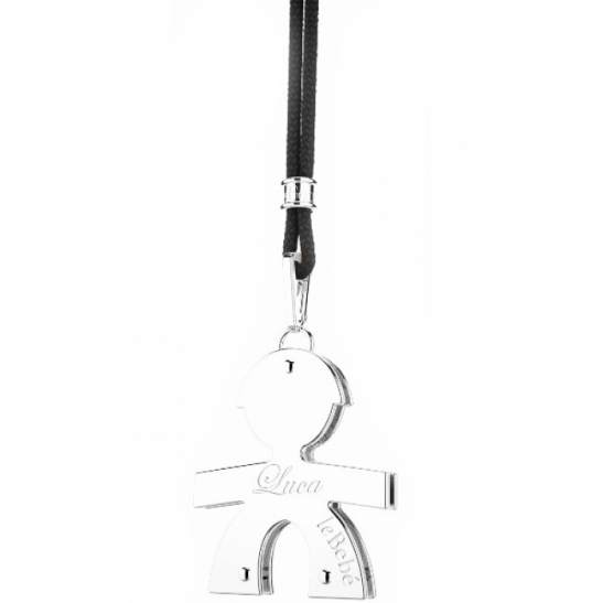 Le Bebè - 9K White Gold Big Boy Pendant customizable with name