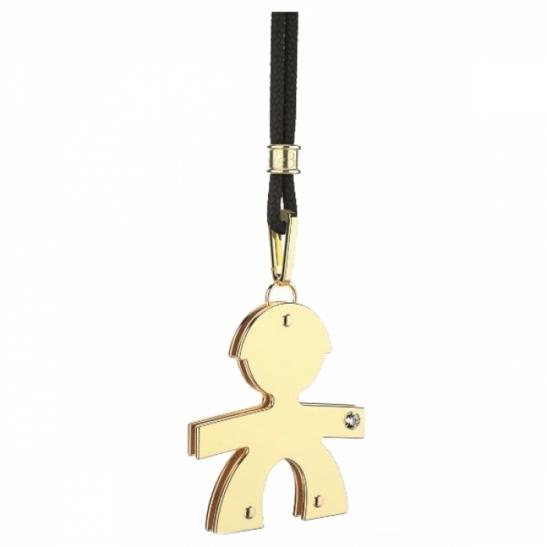Ciondolo Le Bebè - i diamantini - maschietto grande in oro giallo con brillante LBB013