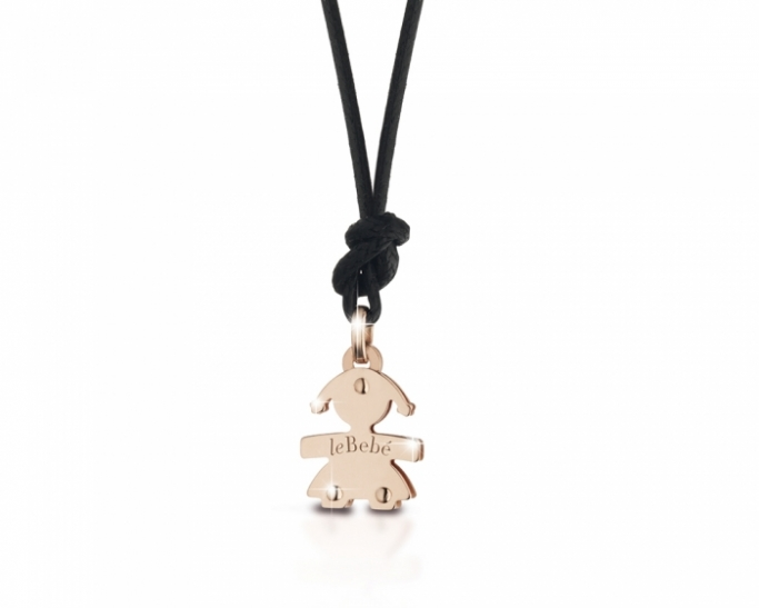 Le Bebè - 9K Rose Gold Mini Girl Pendant customizable with letter