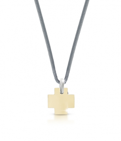 Le Bebè - Titanium and 9K Yellow Gold Pendat customizable with name