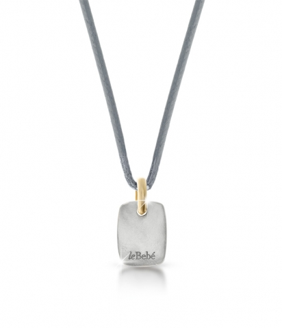 Le Bebè - Titanium and 9K Yellow Gold Girl Pendat customizable with name
