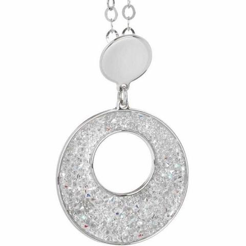 Collana BOCCADAMO con pendente circolare e Swarovski crystal rock XGR240