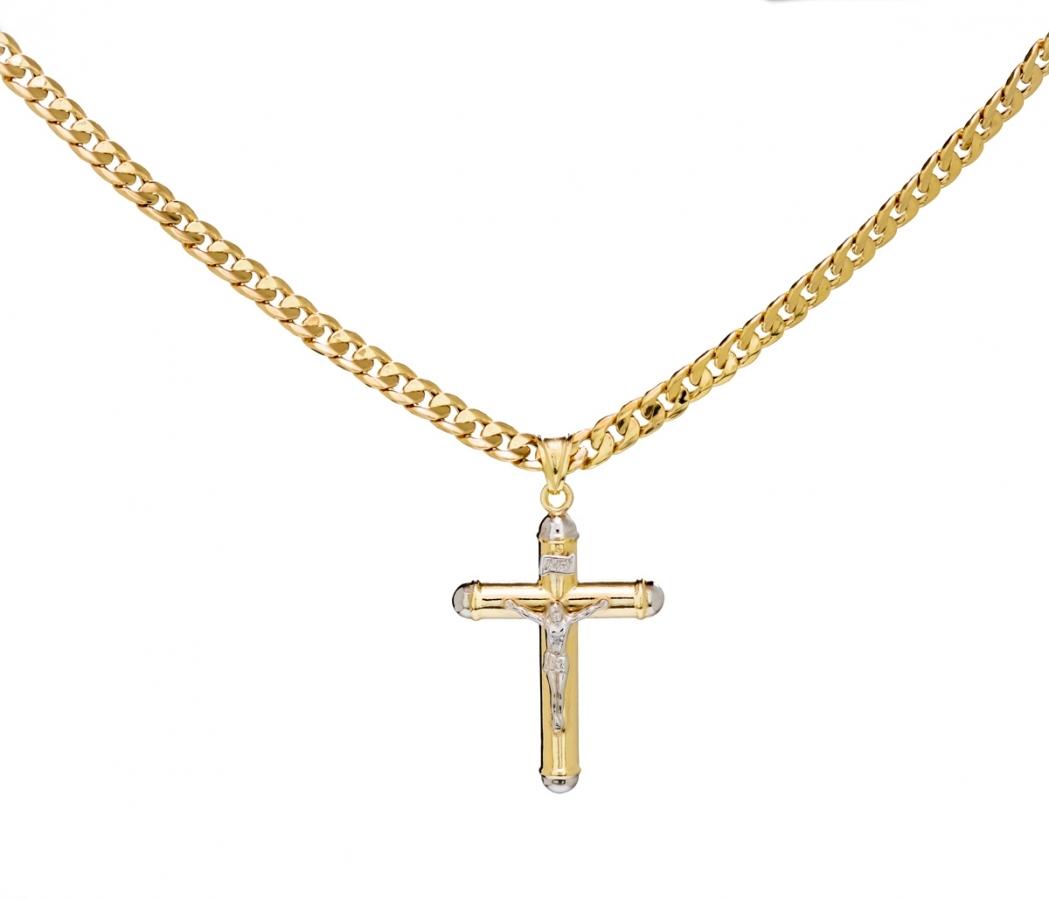Collana da uomo con Crocifisso in oro giallo 18kt