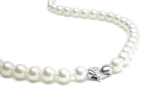 Collana IKI in oro bianco 18kt con Perle Coltivate Asia 6.50 mm