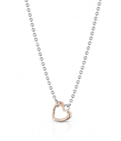 Collana LeBebè - Lock Your Love - in argento 925% con Cuore in oro rosa