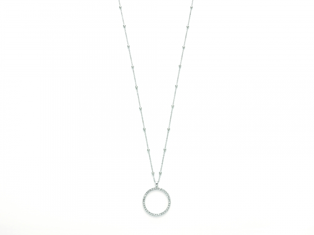 Collana lunga KIARA con Cerchio e zirconi collezione Design